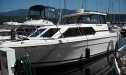 This well maintained Bayliner 2859, 28 foot cabin cruiser shows like new.  You wont find any other comparable boat for that price, she is a 2000 with 385 hours.New manifold with less than 100 hours on them.  New zinks just this July. Bottom paint last