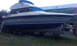 Great boat - we've enjoyed this boat for the last 2 years going on trips around the gulf islands and down to Seattle last year. Powered by twin 350 cobra drives - engines were pulled last winter, legs completely rebuilt and engines overhauled. Hot water