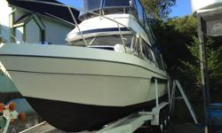 31' Bayliner in very good condition, twin engines Chevy 350 , very low hours, very well maintained , fresh bottom paint, nice and clean, come with tri-axles boat trailer, the boat currently at Alert Bay.for further information please call 2506674290 Alan.