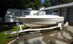 2000 Bayliner, 20 foot, 140 HP, 4 cylinder, Mercruiser inboard. Capri trailer. Includes wetwell, anchor, mounting plate for electric trolling motor, tarp, and 3 life jackets. Visits: 0