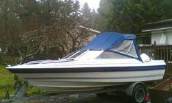 trade my boat,motor and trailer for best dirtbike or quad. 1988 bayliner capri bowrider with 140hp outboard and galv trailer. hasnt been in the water for a couple years now and likely will need some tlc(cleaning, fluids changed...)interior is o.k. but its