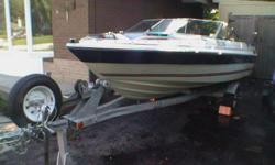 16ft., 1990 -90hp Evenrude outboard Motor amfmmp3and disc player with new speakers, fish finder, includes trailer with new tires , good shape. New Bimini Top. good  fishing boat. call 905-847-7455 Rob