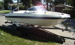 the boat has more miles being pulled down hwy than in the water new motor 40 hours have paper work over $18,000 new, put on in 2007 used 40 hours since 115 optimax direct injection bow and stern seats for two fisherman live well on board tack box troll