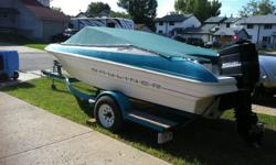 Mint condition 1992 18ft Bayliner with trailor.. holds 7 people...cushioned seats and replaced engine lift....a 100 Merc engine....just spent $2000.00 in repairs...selling due to wanting to upgrade...