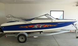 For sale by original owner 2006 Bayliner XT 175 complete with galvanized trailer.  135 HP merccruiser, XT package  ($ 2,000) which includes wakeboard tower, graphics, premium exterior colors.  Bow and cockpit cover ($622).  Chrome guages, factory stereo