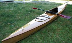 "BEAR MOUNTAIN ""Enterprise"" Kayak Kit. Still in the box, some panels already done. A beautiful craft, will look like the one in the photo."
