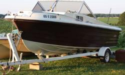 UP FOR SALE IS A 20 FT ANGLER, WITH A 140 INLINE 6, MERCURY OUTBOARD, EASYLOAD TRAILER WITH NEW TIRES IN PERFECT CONDITION. THIS IS A BEAUTIFUL BOAT IN IMMACULATE CONDITION, WITH A FISH/DEPTH FINDER, VHF RADIO, STEREO WITH BLUETOOTH AND 600 WATT CLARION