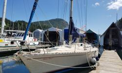 Beneteau 456 sail boat, 46' long , built in France 1983 , Perkins diesel propulsion, fiber glass hull with all wood interior, 3 private cabins, galley with propane range, main saloon with pilot berths. includes mail sail and overlapping jib, spinnaker and
