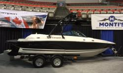 This one is loaded right up and they only made a Limited number. This has a 350 Mag Mercruiser engine. Options include upgraded stereo, tower w/ bimini, underwater lights plus many more options that are included in the limited edition packaging. Also