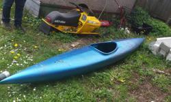 Blue fiberglass kayak. Floats, no leaks Offers on 150
