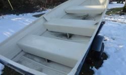 HAVE  ONE  12  FT.  ALUMINUM  DEEP SIDES IN PRITTY  GOOD SHAPE    $600.00                1 902 672 1312  YORK P. E. I. EAST OF CHARLOTTETOWN   C0A 1P0 , HAD IT PAINTED AND RUBBER MATS PUT IN TO WALK ON                also a 12 ft. fibreglass boat in great