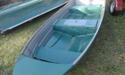 FOR    SALE    12 FT.  FIBREGLASS  BOAT  , IN EXCELLENT SHAPE , NEW  BACK ,  super boat  great  for  fishing or  whatever,  oars included  and  very stable and safe  AND  STRONG ,    3  SEATS  AND  CENTRE  ONE  OPENS  UP.  474 pleasent grove rd. YORK