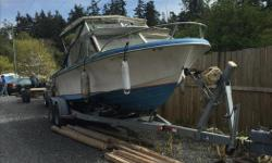 Too many toys , I don't need another boat . I am giving this boat away to a good home . I don't have the time to work on it ( I have two other boats ), I just need it off the trailer . I am told that it runs ok but has been out of the water for a while. A