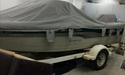 We upholster boat seats , boat tarps , bow covers campy covers travel tarps . All on special this week !