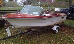 I HAVE A OLDER CRESTLINER FOR SALE DOES NOT LEAK IT COMES WITH TRAILER TOO  . IT TOO SMALL FOR ME SINCE KIDS ARE GOWNING UP. ASKING 750.00 OR BEST OFFER MOTOR NOT INCLUDED  OR WILLING TO TRADE  TOO . LET ME KNOW WHAT YOU HAVE TO OFFER .