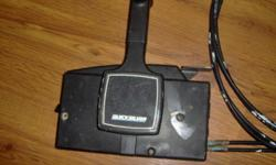 SET OF QUICKSILVER BOAT CONTROLS.(ONE LEVER)$125.PHONE 791- 3748