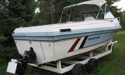 23 Ft. Boat For  Sale. A fresh water Boat from the US. I purchased this boat to get a newer trailer for my own boat. I had the boat running but have never had it in the water. It is a real good starter boat at a very reasonable price. It has a closed
