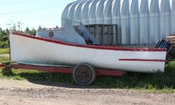 i have a 22 foot wood boat for sale, it has a 65hp mercury cruiser motor, trailer and 300 pound wintch incl. must go! no reasonable offer refused, reasons for sealling no time just had a baby would be a good winter project.