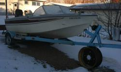 115 hp mercury 2 stroke rebuilt engine with approx 10 hrs on it, might need some carburator work, boat trailer with tilt, and the boat is a 16 ft glasspar and goes with it free. The boat could be fixed but not worth my time.