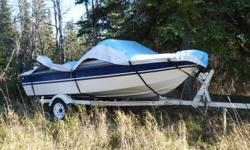 1985 EDSON Boat 14.5 Feet. 1985 60 HP Johnson (Power Trim/Tilt). Oil injected. Lowrance X25 Fish Finder. New Batteries. Trailer, travel tarp. Mint condition. All paper work, etc. Asking $3,000 OBO.