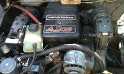 Volvo 4.3 Complete fresh water cooled inboard motor with 2-Volvo 170 legs.