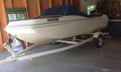 """15' Chrysler Marine, Beam 64"""" , 90 hp Mercury Force outboard, Fitted Cover, Trailer"""
