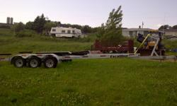 have 2011 boat trailer will take up to a 35' boat,,weight trailer good for is 13,500.lbs..3months old..asking 7500. trailer is hot dip all galivized....this one is now sold but we are now dealer for EXCALIBUR HOT DIPED GALIVED BOAT TRAILERS,,LAST CHANCE