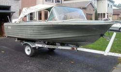 15 ft fiberglass boat (Humber Surf) new anchor light, anchor, new marine battery, solor battery tender, life jackets, bumpers,etc. fish finder(brand new-used once- $390 at CT)   40hp Johnson Sea Horse just rebuilt (carb, coils, condensore,plugs,wires,gear