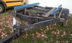 REDUCED PRICE - Magline Boat Trailer, single axle, bottom rollers, side bunks, 7.00-13 tires (1 spare), winch & swivel jack - best for boats19' - 21' - Reduced Price of $1,100.00 or best offer.