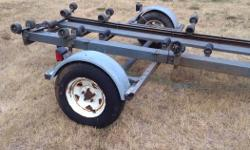 well built boat trailer, heavy duty channel iron construction, electric / manual winch, fully adjustable to fit 15' to 20' boat, no papers, $650 firm