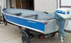 "12' Starcraft ( can be used as a ""car topper "" ) with EZ loader trailer ( new tires ) and 7 & 1/2 HP Evenrude motor. Very Good Condition Call 453 8238 Best Offer"