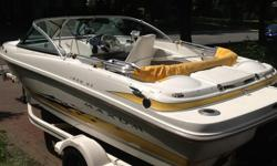 Immaculate 2005 boat, 135 HP, 4 cylinder, 3.0L, no carpet, like new, low hours. Includes: Napoleon bbq, bimini top, table, gps, cd radio, cover and a lot more. Trailor incl.