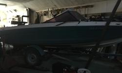1978 Calglass closed bow boat 17 feet long. 302 V8 on newly rebuilt OMC outdrive. Decent upholstery and trailer. Great safe family boat. No worries if waves get up while out on the lake. The deep V hull makes it excellent for tubing, kneeboarding and wake