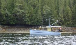 28 FT Pocket Cruiser built to a William Atkin design. Safe reliable well outfitted, sleeps two comfortably. Just returned from 10 week cruise to Prince Rupert. 4 cyl. Isuzu Diesel with Twin Disc Gear-700 hours. Furnace, Fridge, Galley w/2 burner stove and