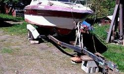 Very nice 1982 Campion.Low hour v6 vortec Volvo 280 leg.On dual axel trailer.Custom.Custom Alu. swim grid.VHF Radio Sounder.View at Sayward Kayak storage yard Chemanus.