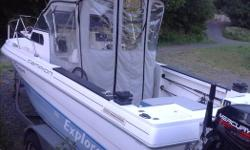 For sale well equipped boat with electric down riggers,fish finder gps,plotter,Mercury kicker,inboard Mercruiser 4.3l, dual axel trailer with new brakes