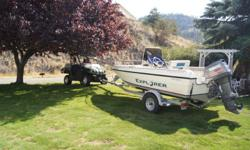 1998 Campian Explorer Fishing Boat with Center Console 87 hours on 90 HP Yamaha Power Down Riggers and Rod Holders With Trailer and Winter Cover