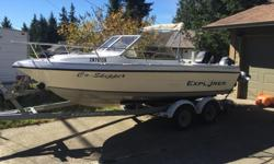 UPDATE: had a mechanical done on the Merc 115hp, great compression, everything else checked out good, paper work available This is the complete package, comes with everything you need to get out fishing on the ocean or enjoy a day at the lake. If you've
