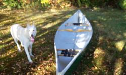 14 ft. Abitibi Fiberglass canoe for sale.A good stable canoe excellent for hunting or the camp.