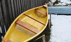 14ft fiberglass canoe, new paint, all stainless steel hardware and fasteners, new seats and included with this is 3 life jackets ( 2 adults and 1 child ) and 2 paddles and hold down straps.Please e-mail for details.