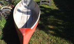 Fiberglas canoe needs seats and fiberglass repair , I have no time to fix but a great project for little investment , firm at $75