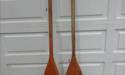 I've got 1 pair of wooden canoe paddles for sale. Give Bob at call at 250-468-1450