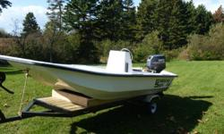 14' Carolina Skiff, center console steering and controls with a removable swivel seat. 30 Hp Yamaha motor and a brand new custom built trailer. A very nice package for just $3275.