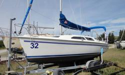 Beautiful and well maintainted 1999 Catalina 250 Water Ballast. Water ballast makes boat towable with standard pickup truck, also hobby horses less than similarly sized sailboat with fixed keel. Perfect for Alberta/BC waters and easy to launch. Safe,