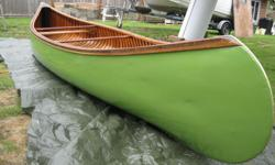 16 ft Prospector Special Greenwood canoe with half ribs. Quality workmanship. A great piece of West Coast history in the flesh! For more info see: www.greenwoodcanoecompany.com