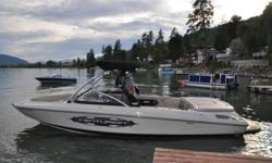 2008 Centurion Enzo SV240 This is Centurion's flagship boat and the official tow boat of the World Wakesurfing Championships. ? Sleek looking tan hull and interior with black tower, bimini and accents; this is an amazing wakesurfing and wakeboarding boat