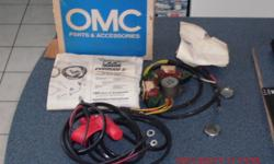 1983 -1988charging kit for a 9.9,25,20,35 johnson out board motor four amps $75.00  never used .For charging your boat battery.