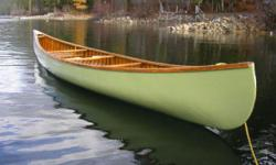 Chestnut 17 foot Cronje Wood-Canvas Canoe built 1968 Serial # 25181 Expertly restored by Mike Elliott , Kettle River Canoes, in 2009. Original color and badges, lowered cane seats, three paddles. One owner, located in Grand Forks, BC $3500.00 Firm