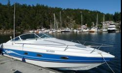 great boat Tune up June 14 - new plugs, dist cap, wires... Sleeps four Stove Fridge box Stereo w remote Marine radio Navigation system - not included Head 454 cobra merc New risers New manifolds New fuel pump New strataglass all around New Marine