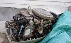 Needs work a definite project boat. Had the engine off last fall, compression and spark check out had running on stand with muffs on. Bought a new impeller to have it water ready just lost interest in project. Engine is a 70s evenrude 55 hp. Replaced